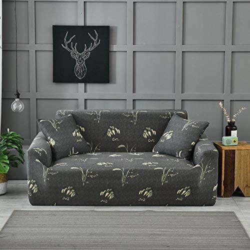 QRTQ Funda de sofá Fundas para sillas Poliéster Elástica Fundas sillas Impresión Elástica Funda para Sofá Chaise Longue en Forma de L (Marron Oscuro,1 plazas: 90-140cm)