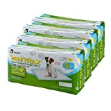 Richell Paw Trax Super Absorbent Pet Training Pads, 200 Pack, pad Size 17.7 x 23.6, Potty pad, White (94545)