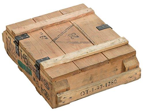 Munitionskiste T45 Natur Aufbewahrungskiste ca 49x37x18cm Militärkiste Munitionsbox Holzkiste Holzbox Weinkiste Apfelkiste Shabby Vintage - 3