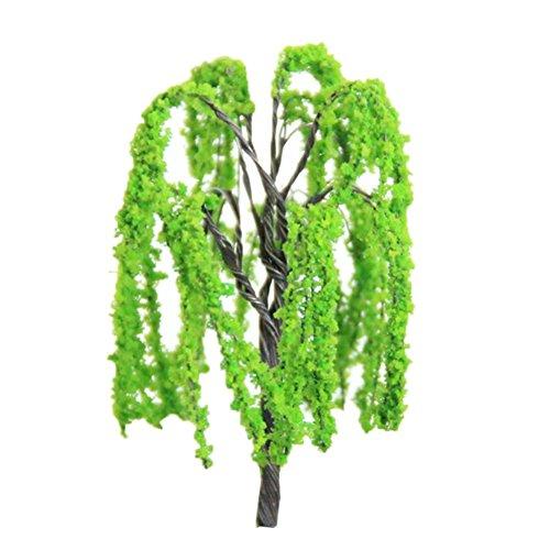 VektenxiMicro Landschaft Landschaftsmodell Mini Willow Tree Modell Eisenbahn Landschaft DIY Dekoration Ornamente Zubehör 5 cm Sehr praktisch