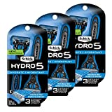 Schick Hydro 5 Disposable Razors for Men with Flip Beard Trimmer, 9...