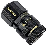 Koolance QD3-FS10X16-BK QD3 Female Quick Disconnect No-Spill Coupling, Compression for 10mm x 16mm (3/8in x 5/8in)Black