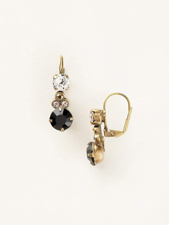 1 Black Sorrelli Clustered Circular Crystal Drop Earring