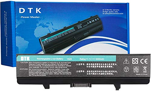 DTK Laptop Battery for DELL GW240 Inspiron 1440 1525 1526 1545 1546 1750 PP29L PP41L VOSTRO 500 K450N 312-0625 451-10478 M911 Series and more 5200mAh 11.1V