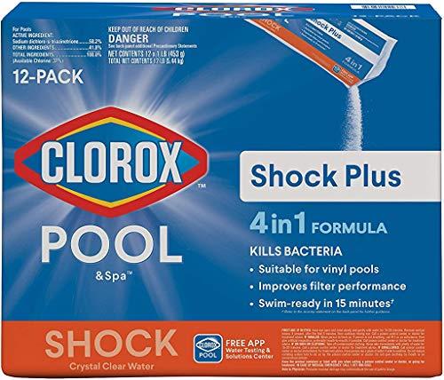 Clorox Pool&Spa 32312CLX Shock Plus, 12-Pound, White
