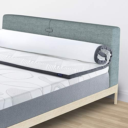 Moonlight Family 2 Inch Gel Memory Foam Mattress Topper, Medium Firm Pressure Relief Dual-Layer Ventilated Cooling Bed Topper for Side, Back & Stomach Sleepers, Removable & Washable Cover, Twin
