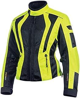 Olympia Moto Sports WJ411 Women's Airglide 5 Mesh Tech Jacket (Neon Yellow/Black, Small)