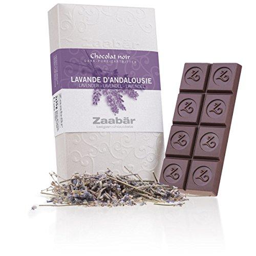 Zaabär Duo - Lavande d'Andalousie - Zwei Tafeln Zartbitterschokolade mit Lavendel aus Andalusien   Belgische Schokolade   Geschenkidee   Frauen   Männer   Kinder   Schoko   Tafel   Weihnachten   Frau
