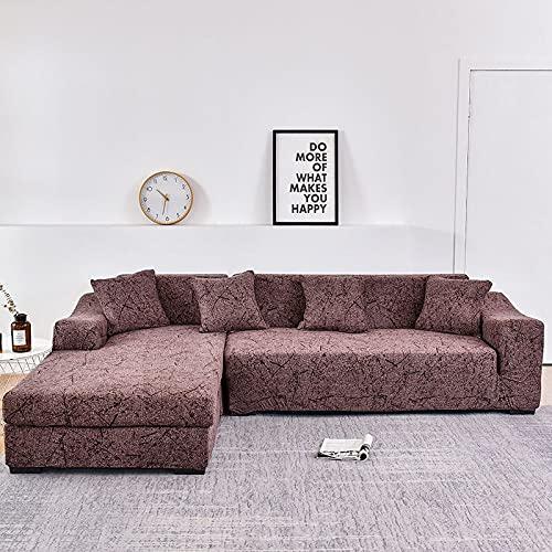 WXQY L-Form muss 2-teilige Sofabezug, elastische Sofa-Handtuch-Sesselbezug, für Ecksofa zum Schutz der Möbel A9 1-Sitzer bestellen