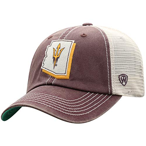 Top of the World Arizona State Sun Devils Men's Adjustable Off Road Mesh State Icon hat, Adjustable