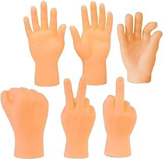 Marionetas de Dedo, ZoneYan 6pcs Mini Manos de Dedo, Marioneta Dedo Muñecos Dedo, Manos Pequeñas de Broma, Dedo Juguetes C...