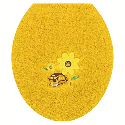 センコー となりのトトロ 花のバス停 トイレ ふたカバー イエロー 普通用 ねこバス 19750