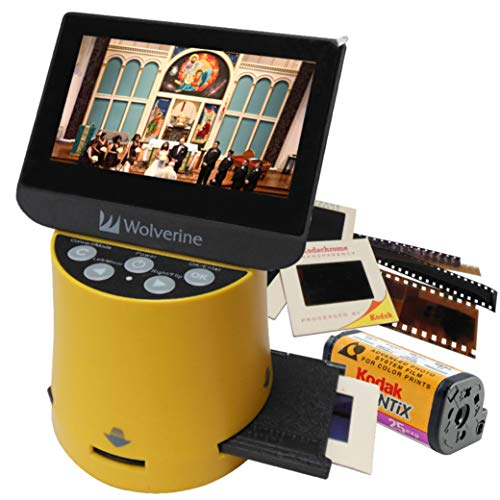 Wolverine F2DTITAN フィルムスキャナー 35mm 110 126 127 8mm スーパー8mm apsスライドフィルム対応 高画質 ネガ デジタル化 フィルムの写真 ネガ・ポジ対応 2000万画素 4.3インチモニタ搭載 HDMI出力 SD保存 ネガスキャナー