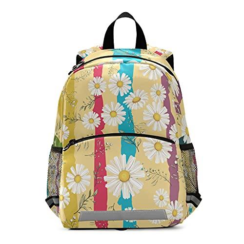 Mnsruu Mochila para niños, mochila escolar para niños, camomilas, estudiantes, para niños y niñas