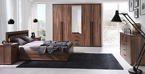 Design Luxus Schlafzimmer Set Doppelbett Kleiderschrank Laminat SLX2 NEU!