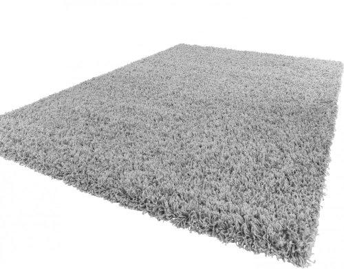 Paco Home Shaggy Hochflor Langflor Teppich Sky Einfarbig in Grau, Grösse:60x100 cm