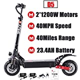 Yume D5 Powerful Dual Motor Electric Scooter for Adults, 52V 2400W 10' Off Road...