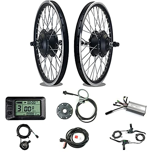 Electric bike conversion kit 36V 500W front motor hub electric wheel 24 inch, 22A controller, with LCD7U display