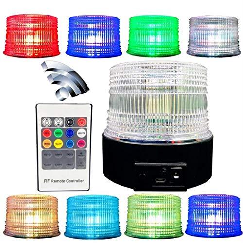 Wireless LED lights Emergency Strobe Light Magnetic Flashing Warning,8 color Led Magnetic Warning Beacon, Truck Car Vehicle Emergency Hazard High Power Beacon Caution Warning