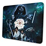 Star Wars Gaming Mouse Pad with Stitched Edges Computer Mouse Mat Non-Slip Rubber Base for Laptop PC 12 X 10 X 0.12 Inches