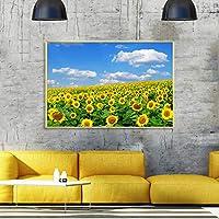 アートワークプリントひまわりの花キャンバス絵画ポスターとプリント壁アート写真モダンなリビングルーム家の装飾壁画30x40cmフレームレス
