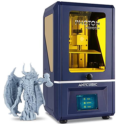 "ANYCUBIC Photon Mono SE Resin 3D Printer, UV LCD SLA 3D Printer Ultra Fast Printing with 6"" 2K Mono Screen and WiFi Function, Dual Z-axis Linear Rail, Print Size 5.12""(L) x 3.07""(W) x 6.29""(H)"