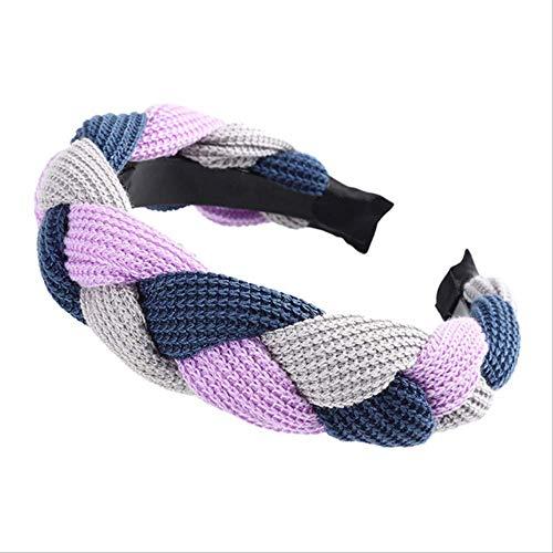 XSHIYQ Velvet Hairband Pour Femmes Dames Bandeau Solide Couleur Tresse Cheveux Boucle Rétro Chapeaux Femelle Cheveux Accessoires 15 cm 26-A