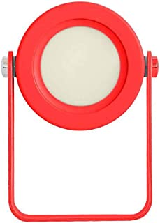 Night Light Lamp LED Desk Lamp Night Light Lantern USB Light Folding Telescopic Camping Lamp Table Lamp (14.2cm*3.7cmx19.4cm) (Color : Red)