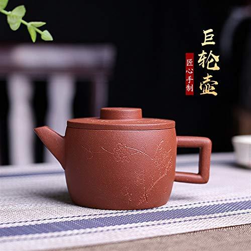 XinQuan Wang tè Dingshuzhen teiera Famosa Mano teiera di tè Kung Fu Minerale di Piccola Nave Verso Il Basso Le pentole Pista di Fango (Color : Purple Mud)