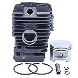 Haishine Kit de pistones de Cabeza cilíndrica 49 mm para STIHL MS390 MS310 MS290 029 039 MS 390 310 290 Piezas del Motor de Motosierra 11270201216