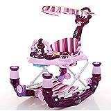 Schaukelpferd XMJ Baby-Wanderer Pusher Walker mit Bremse Gürtel mit Musik Spielzeug geeignet for 6-12 Monate Baby-Nutzung (Color : Purple)