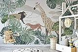 Murwall Kids Forest Wallpaper Wild Animal Wall Art Cartoon Jungle Wall Art Nursery Boys Bedroom Baby Room Childroom Play Room