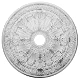 Ekena Millwork CM30FL Flagstone Ceiling Medallion, 30'OD x 3 7/8'ID x 3 1/4'P (Fits Canopies up to 3 7/8'), Factory Primed
