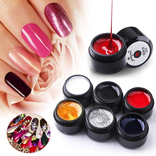 6 colores Nail Spider Gel