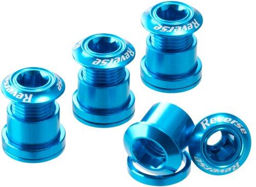 Reverse Kettenblattschrauben 4er Set Aluminium hell blau