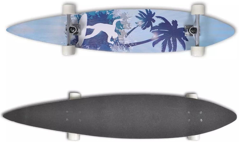 XuzhEU Skateboard, 117 cm (9 Zoll), Aluminiumachse B07FDY48GS  Vitalität