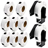 Label KINGDOM Compatible Rolls Replacement for DK-1204 Die-Cut Multipurpose Paper Label, 2/3' x 2-1/8'(0.66' x 2.1') 400/Roll Return Address Label for Brother QL-800 QL-810W Printer (10-Roll + 2 Frame