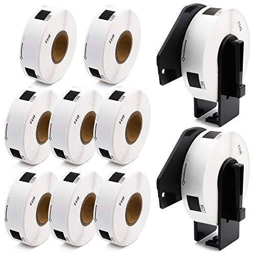 """Label KINGDOM Compatible Rolls Replacement for DK-1204 Die-Cut Multipurpose Paper Label, 2/3"""" x 2-1/8""""(0.66"""" x 2.1"""") 400/Roll Return Address Label for Brother QL-800 QL-810W Printer (10-Roll + 2 Frame"""
