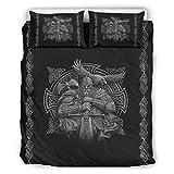 Huffle-Pickffle Ropa de cama vikingo Odin suave y elegante – Ropa de cama Navidad blanco 168 x 229 cm