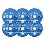 Flight Simulator 2020 X Premium DELUXE Edition Flight Sim FlightGear 6 Disc DVD CD Set For Microsoft Windows...