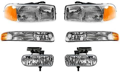For New life Sierra High order Pickup 99-06 Headlights Lamps Fog Corner Lights Park
