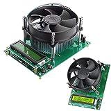 CLJ-LJ 150W de corriente constante carga electrónica Junta 60V 10A del talud de descarga Capacit probador del amperímetro del voltímetro del módulo LCD con 1602 Displa temperatura de descarga Displa a