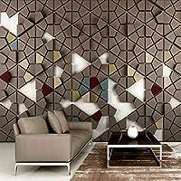 Djskhf 3D多角形モザイクタイル壁の背景の壁紙キッズルームホーム改善現代壁紙絵画壁画シルクペーパー 280X200Cm