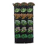 homeng 18tasche verticali per giardino, appendiabiti da parete pianta crescere borse da giardino, decorazione per la casa, giardino verticale a forma di vaso