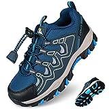 Uovo - Zapatillas de senderismo para niños (impermeables, talla 39), color negro y azul, color Azul, talla 35 EU