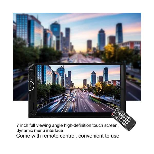 MP5 Player 7 Inch Double Din Touch Screen Car BT MP5 Player Stereo FM Radio Bluetooth Sound Modified Car Music Video Receiver Support BT Hands-free Rearview Camera Function 5