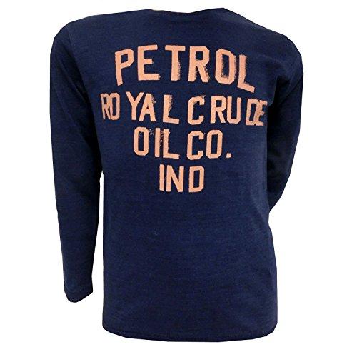 Petrol Industries - Langarmshirt Jungen T-Shirt Schriftzug, dunkelblau, Größe 164