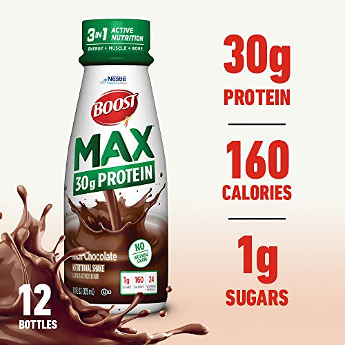 Boost Max Protein Drink, Rich Chocolate, 11 Ounce Bottle, 12 Pack (Packaging May Vary)