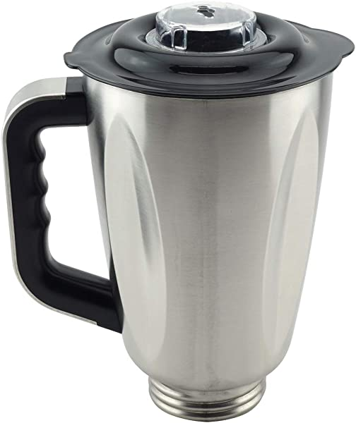 6 Cup Stainless Steel Jar With Handle And Lid For Oster Osterizer Blenders Replacement Part 304