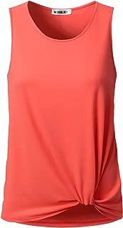 Doublju Women's Floral & Solid Sleeveless Round Neck T-Shirts Plus Size